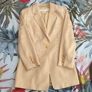 Vintage ESCADA one button blazer in GOLD!